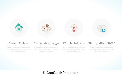 Set of flat design concept icons