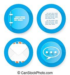 Set of flat document icons