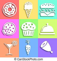 Set of flat Food icons