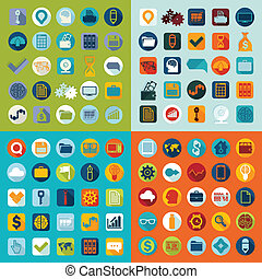 Set of flat icons