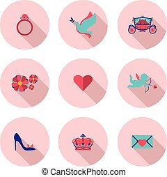 set of flat icons Princess