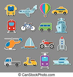 stickers of transport