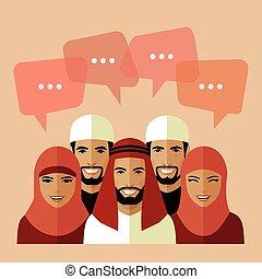 flat muslim avatars,