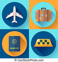 Set of Flat Quality Travel Icons