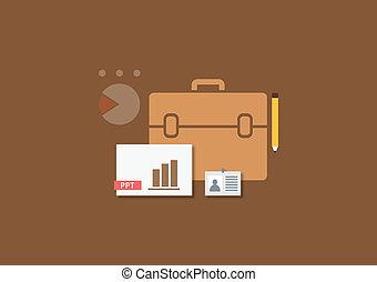 Set of flat vector business concept