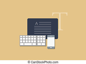 Set of flat vector business concept