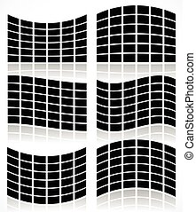 Set of Flat Video Walls with distortion effects Set of Flat ...