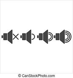 flat volume icons
