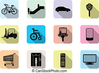 Set of flat  web icon.(facilities)