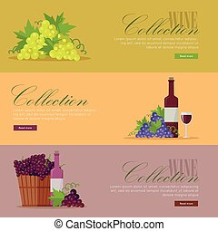 Set of Fliers for Elite Wine Collections.