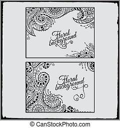 Set of floral decorative vector frames