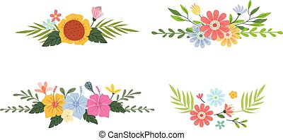 Set of floral divider