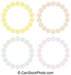Set of floral frames.