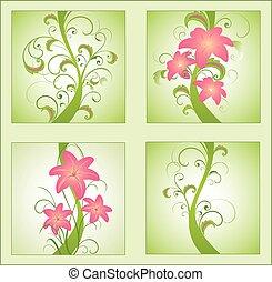 Set of floral illustration