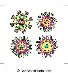 Set of floral ornaments for your design