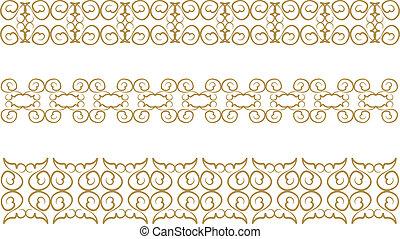 floral pattern border