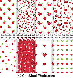 Set of floral seamless patterns