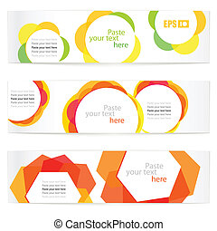 vector information banners