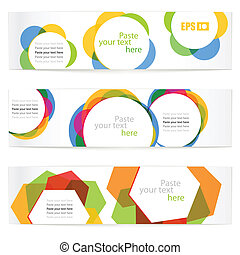 floral vector information banners