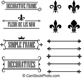 Set of flourish design elements