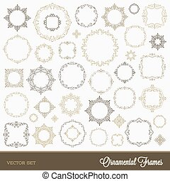 Set of flourishes ornamental frames