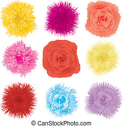 Set of flower design element, part 2
