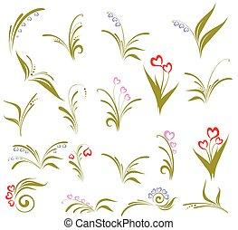 Set of flower design