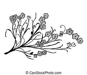 Set of flower doodles flower