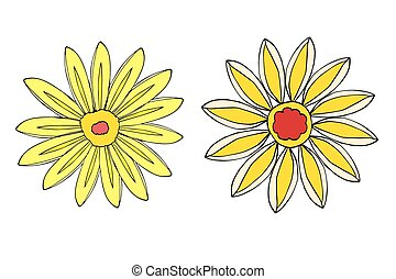 Set of Flower isolated. Vector illustration