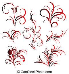 Set of flower pattern, tattoo