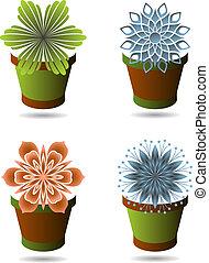 Set of flowerpots