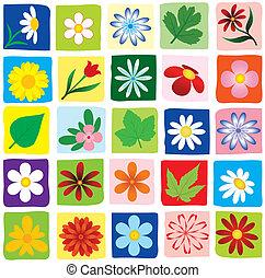 set of flowers. vector design eleme