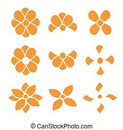 Set of flowers vector design