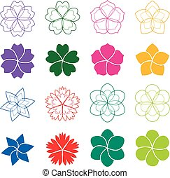 Set of flowers, vector illustration