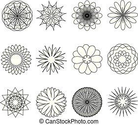 Set of flowers. Vector illustration