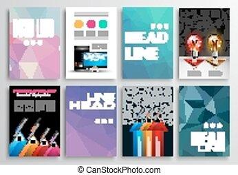 Set of Flyer Design, Infographics Brochure Designs,...