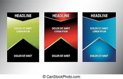 Set of flyer design vector
