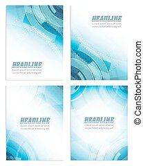 Set of flyer or brochure template, corporate banner, ...