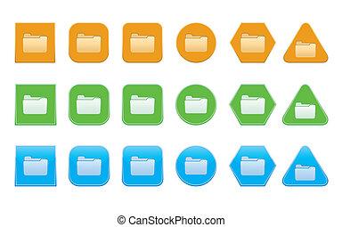 set of folder icons