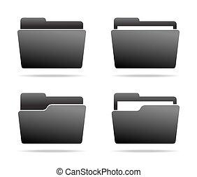 Set of Folder Icons.