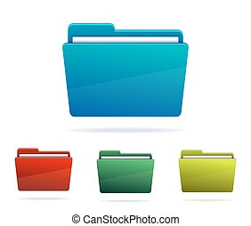 Set of Folders with papers.