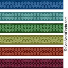 Set of folk ribbons