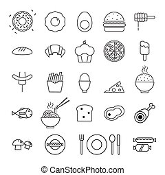food icons set illustration