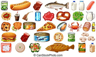 Set of food isolated