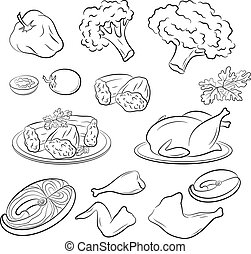 Set of Food Pictograms