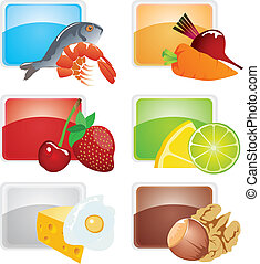 Set of food - vector icons