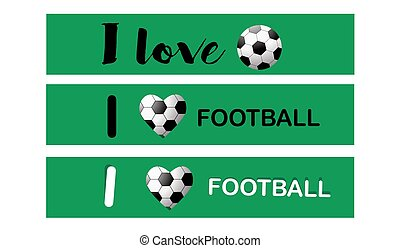 Set of football banners. Soccer banner.