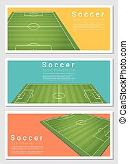 Set of Football field graphic background 2
