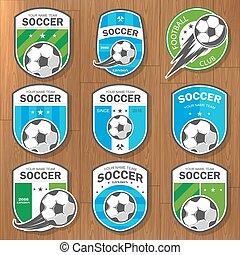 Set of football logos.