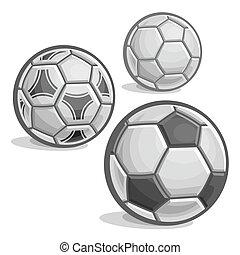Set of football(soccer) balls